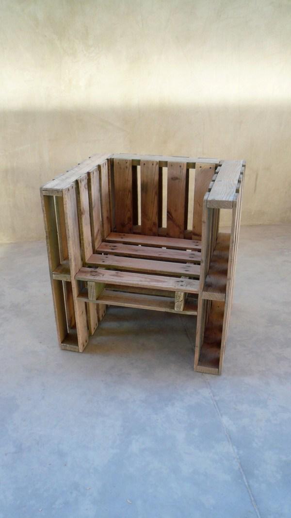 sillón de diseño de palets