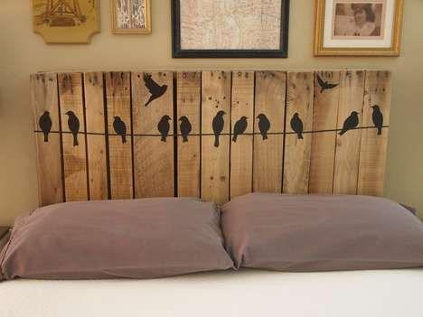 Cabecero de cama con palets i love palets - Cama con cabecero ...