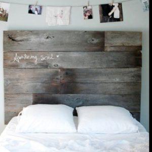 cabecero de cama con palets