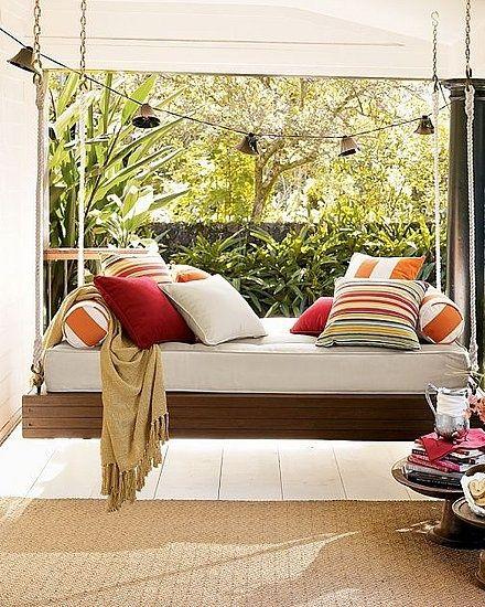 Columpios hechos con palets para dentro y fuera de casa - Columpios de terraza ...