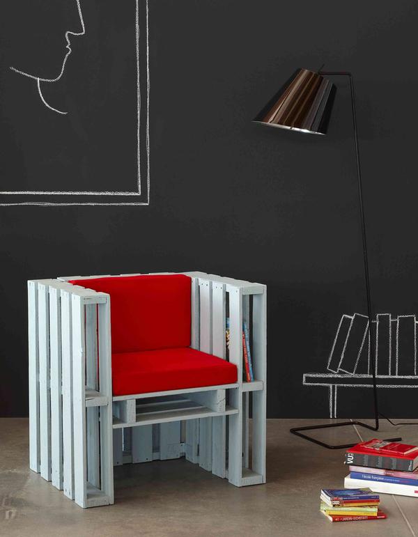sillón de palets de diseño