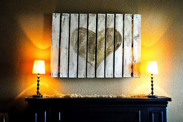 espacio romántico con palets