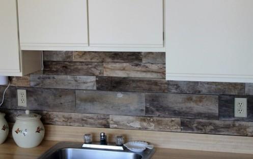 C mo decorar un frontal con palets para la cocina i love - Decorar paredes con palets ...