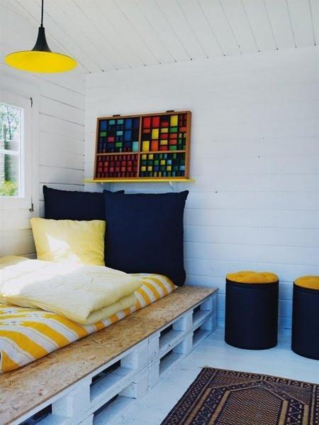 habitación para adolescentes con palets