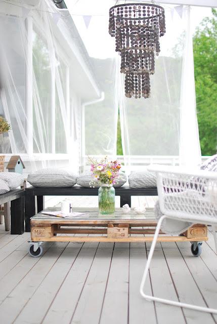 mesa de palet para terraza