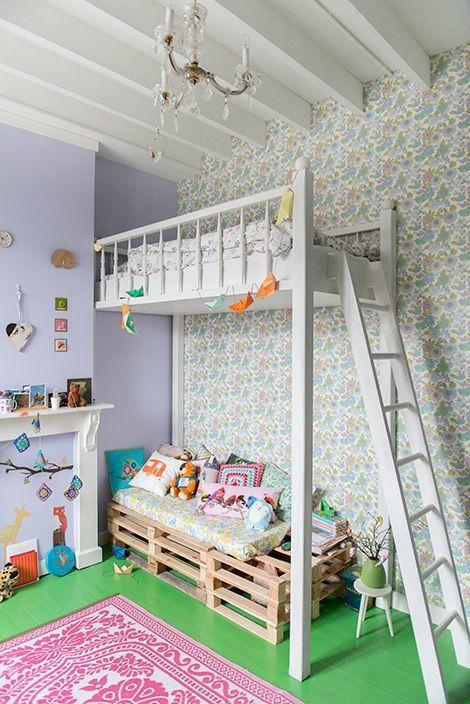 5 ideas de literas para ni os de palets divertidas y - Habitaciones originales para ninos ...
