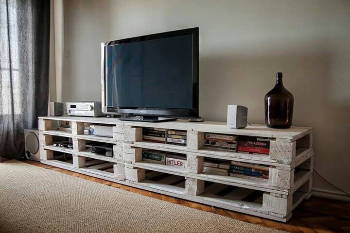 Palets para un mueble de televisi n i love palets for Muebles tv originales