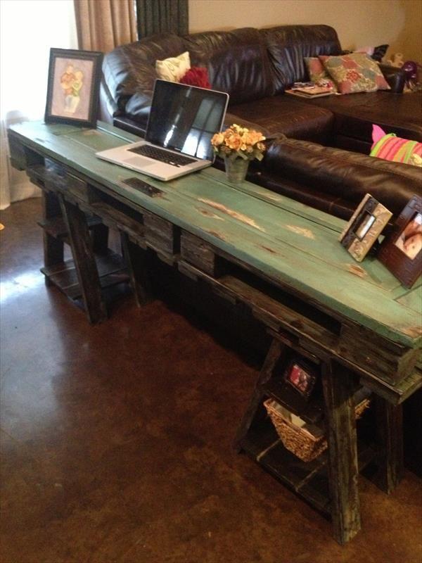 Una Mesa De Ordenador De Estilo R 250 Stico I Love Palets