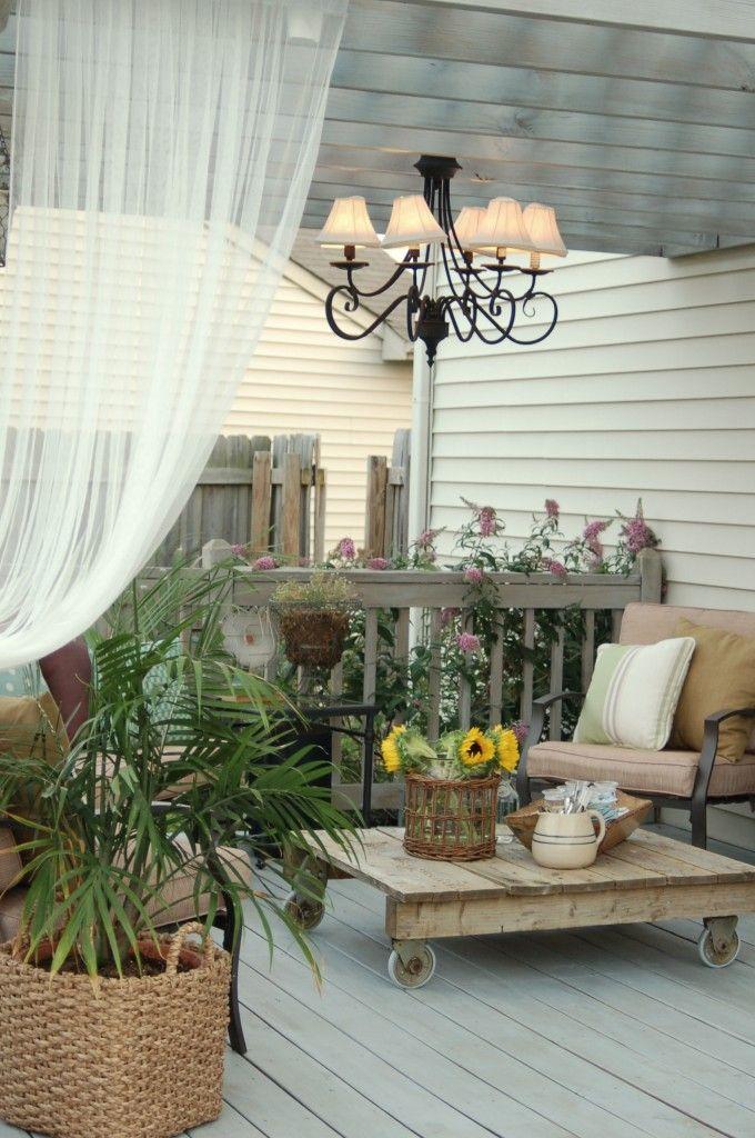 Una terraza rom ntica y vintage i love palets for Terrazas vintage