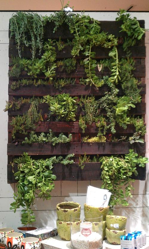 Un jard n dentro de casa con palets i love palets - Jardin vertical con palets ...