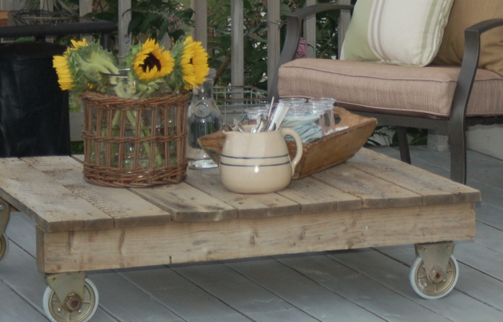 terraza romántica y vintage