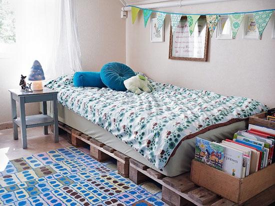 Proyectos de habitaciones para ni os con palets i love for Camas infantiles con palets