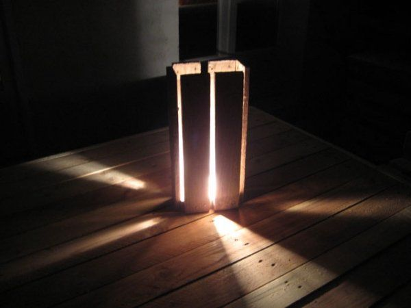iluminación con palets