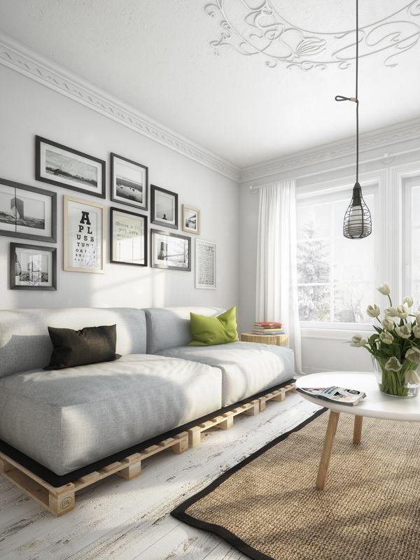 7 ideas de sof s con palets para el sal n i love palets - Como hacer sofas de palets ...