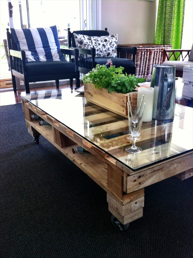 mesa de salón de palets