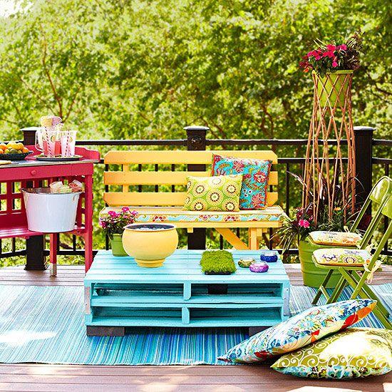 decorar terraza con palets