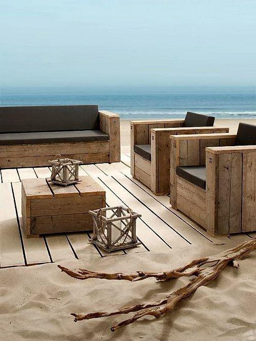 verano, playa y palets