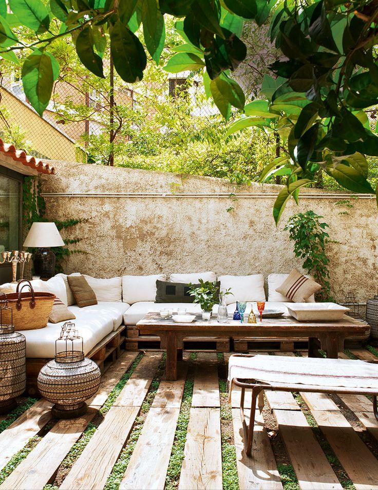 terraza decorada con palets - Terraza Con Palets