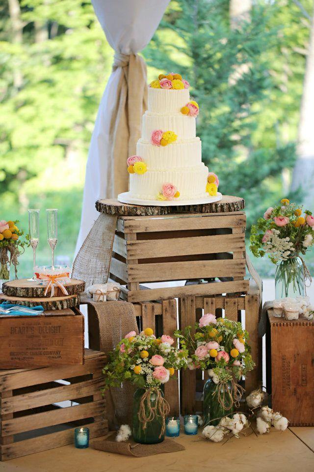 decorar boda con palets