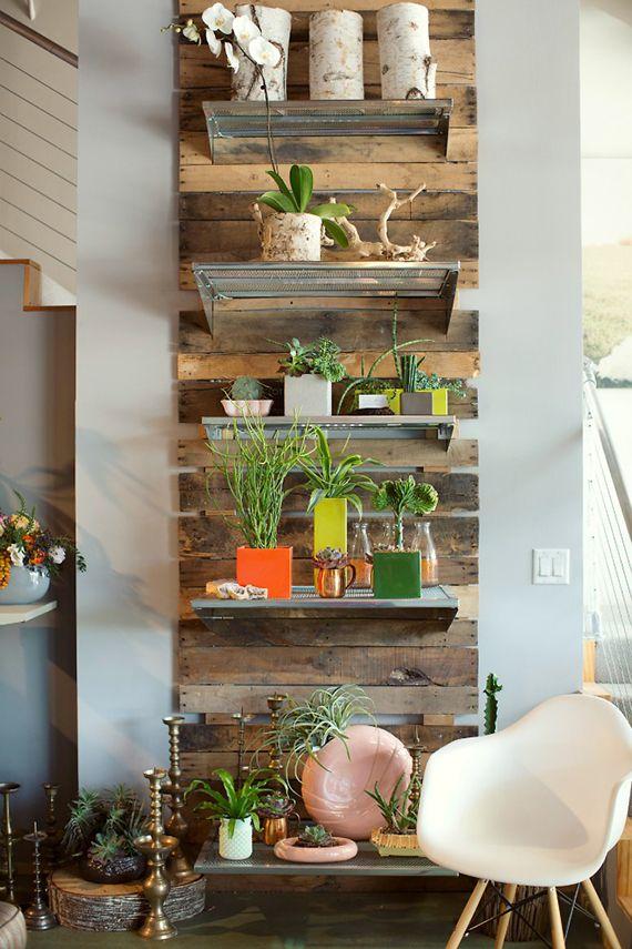 decorar pared con palet - Decoracion Palets