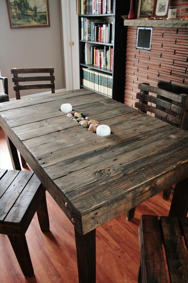 10 ideas de mesas de comedor hechas con palets – I Love Palets