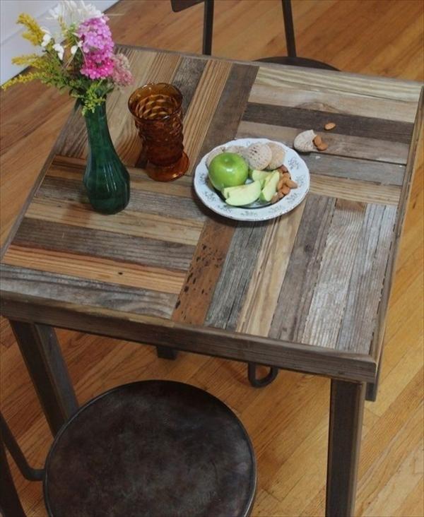 10 ideas de mesas de comedor hechas con palets i love palets for Mesa de palets paso a paso