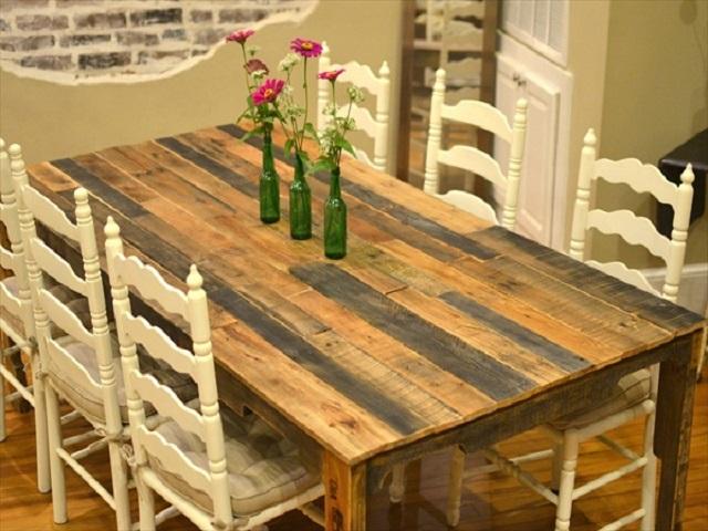 10 ideas de mesas de comedor hechas con palets i love palets - Mesa de palets ...
