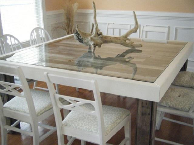 10 ideas de mesas de comedor hechas con palets i love palets - Mesas de comedor originales ...