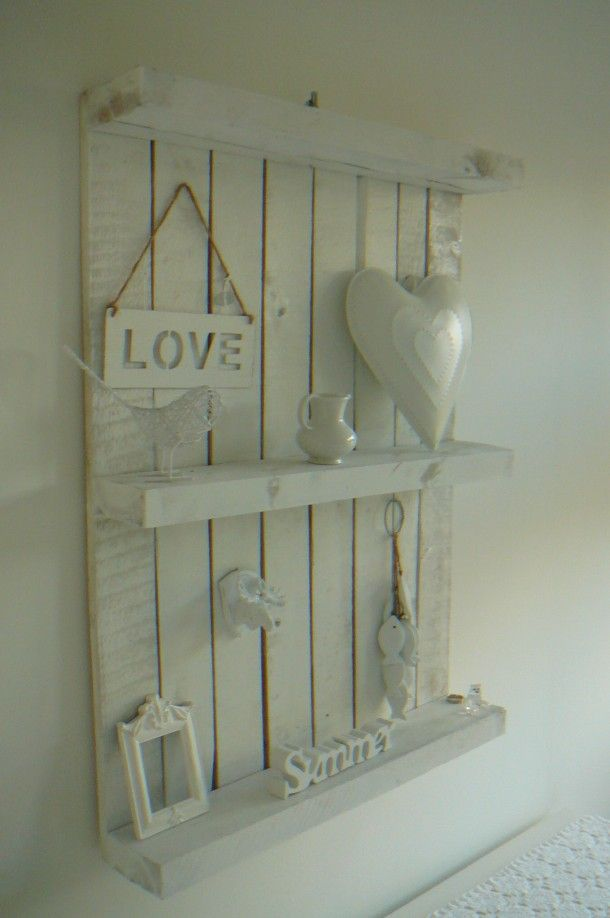 Estanter as decorativas de pared hechas con palets i - Estanterias de palets ...