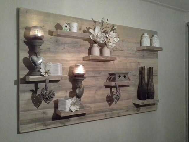 Estanter as decorativas de pared hechas con palets i for Muurdecoratie buiten