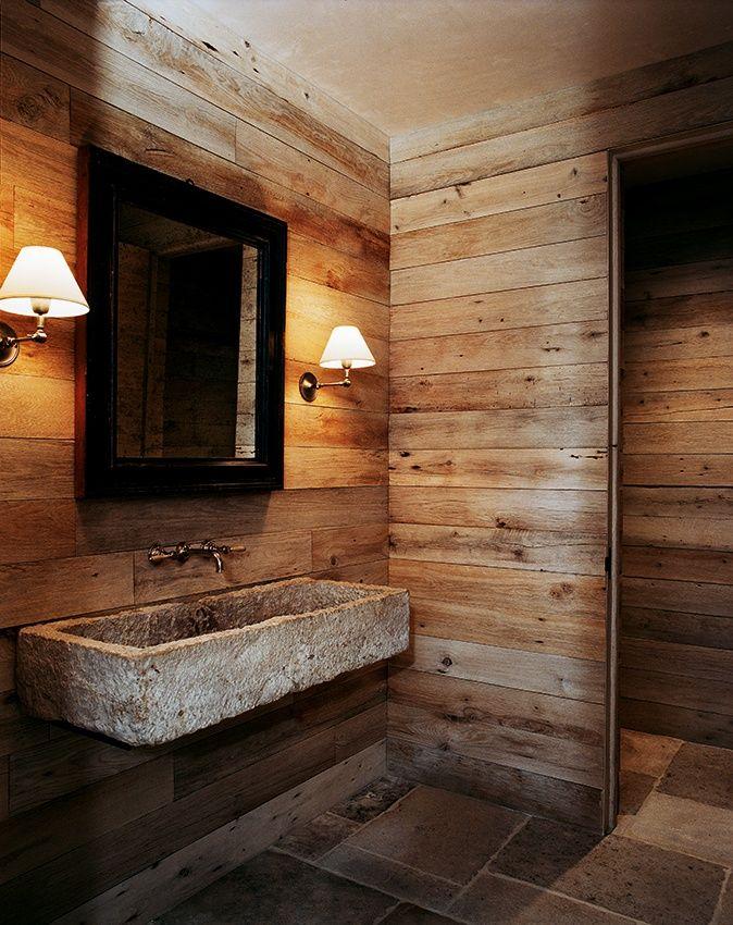 Baños Rusticos Con Encanto:Barn Wood Bathroom Design Ideas