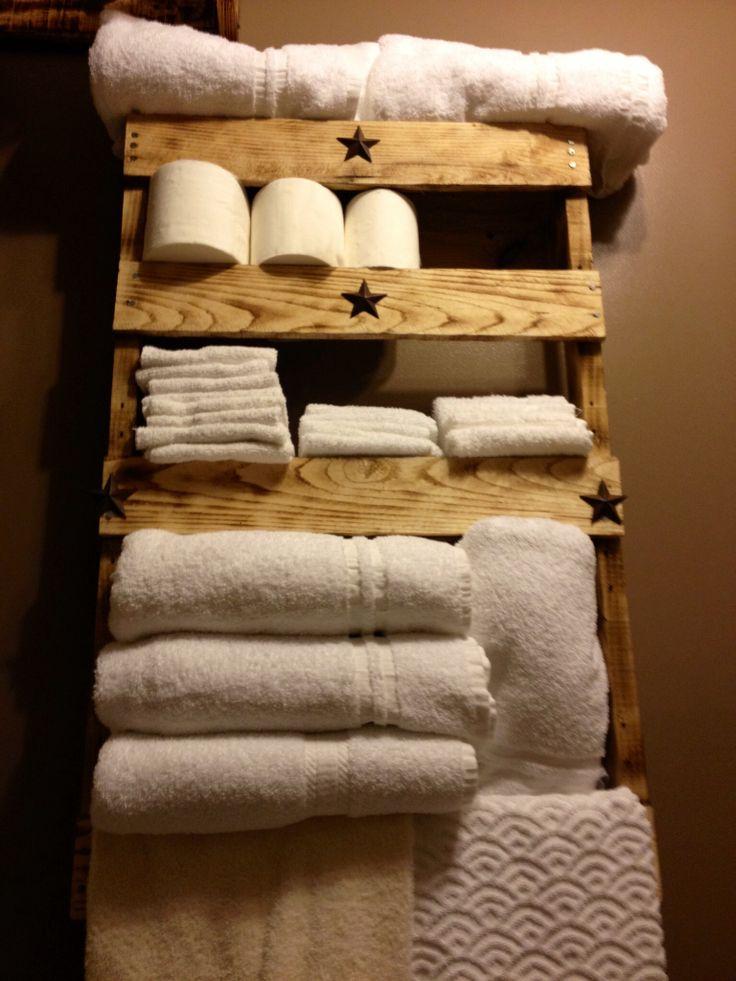10 toalleros de palets sencillos y maravillosos i love - Muebles toalleros para banos ...