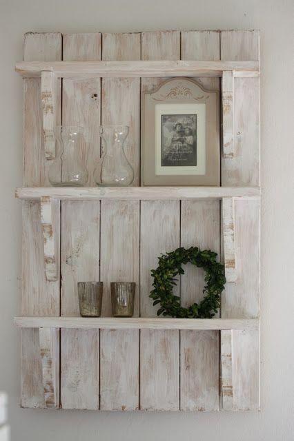 Estanter as decorativas de pared hechas con palets i for Estanterias de palets