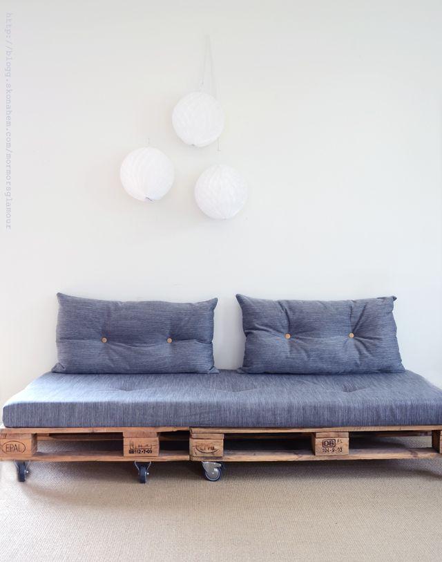 Proyectos de sofás de palets elegantes y sencillos – I Love Palets