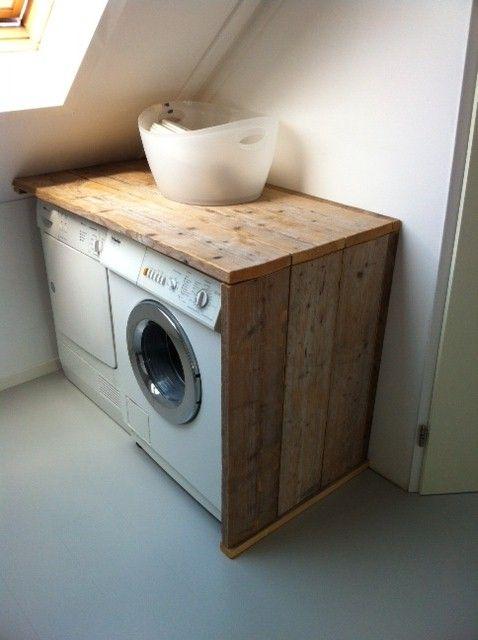 palets para el cuarto de la lavadora