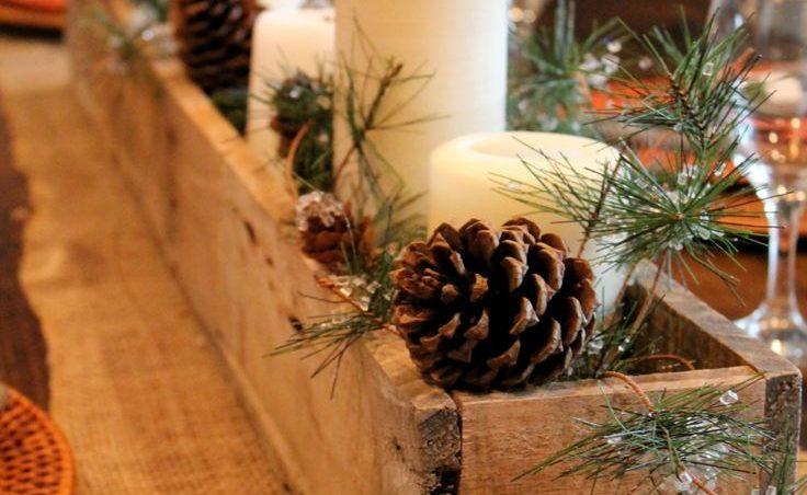 centro de mesa navideño de palets