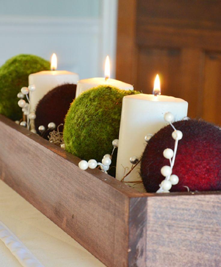 Centros navide os de mesa hechos con palet i love palets for Centros de mesa navidenos elegantes