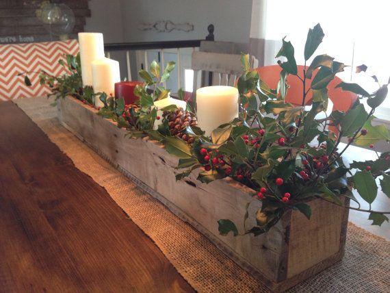 Centros navide os de mesa hechos con palet i love palets - Mesas de madera hechas a mano ...