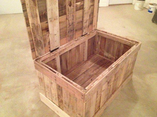 10 ideas de baúles de palets para almacenar tus cositas ...