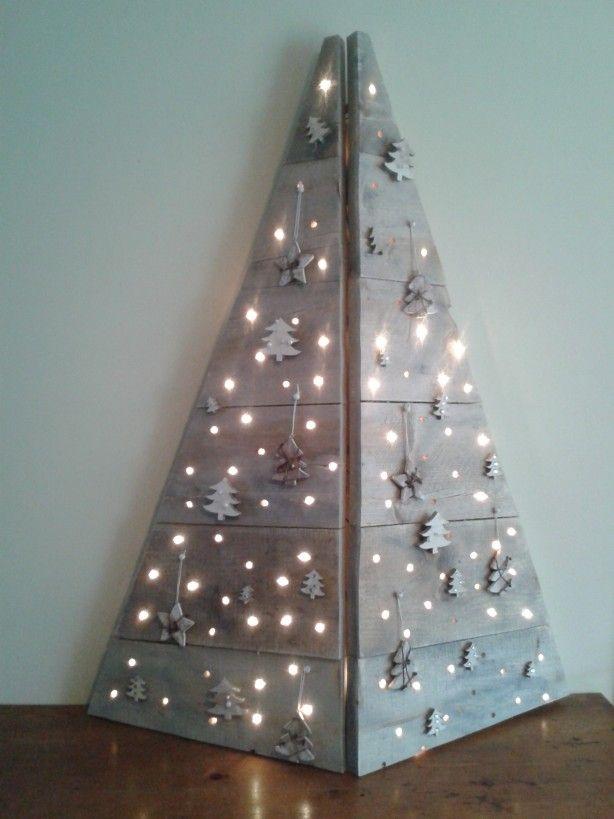 Rboles de navidad muy econ micos y originales con palets - Ideas originales para navidad ...