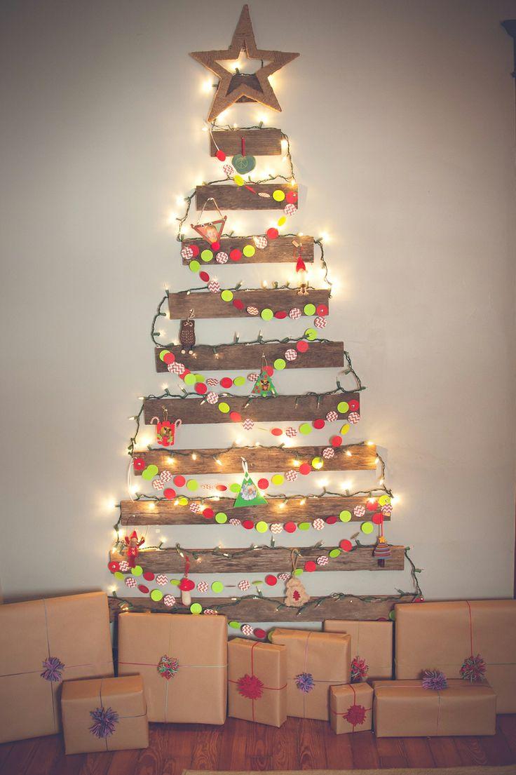 Rboles de navidad muy econ micos y originales con palets - Originales arboles de navidad ...