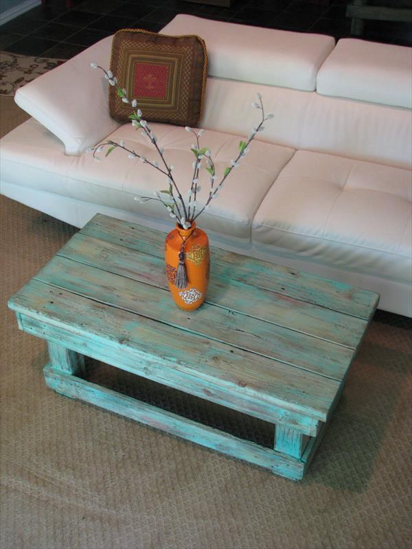 mesa para salón con palets