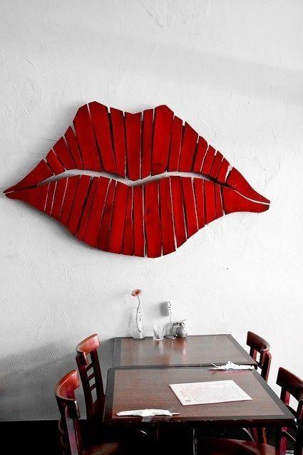 decoración de pared de palet