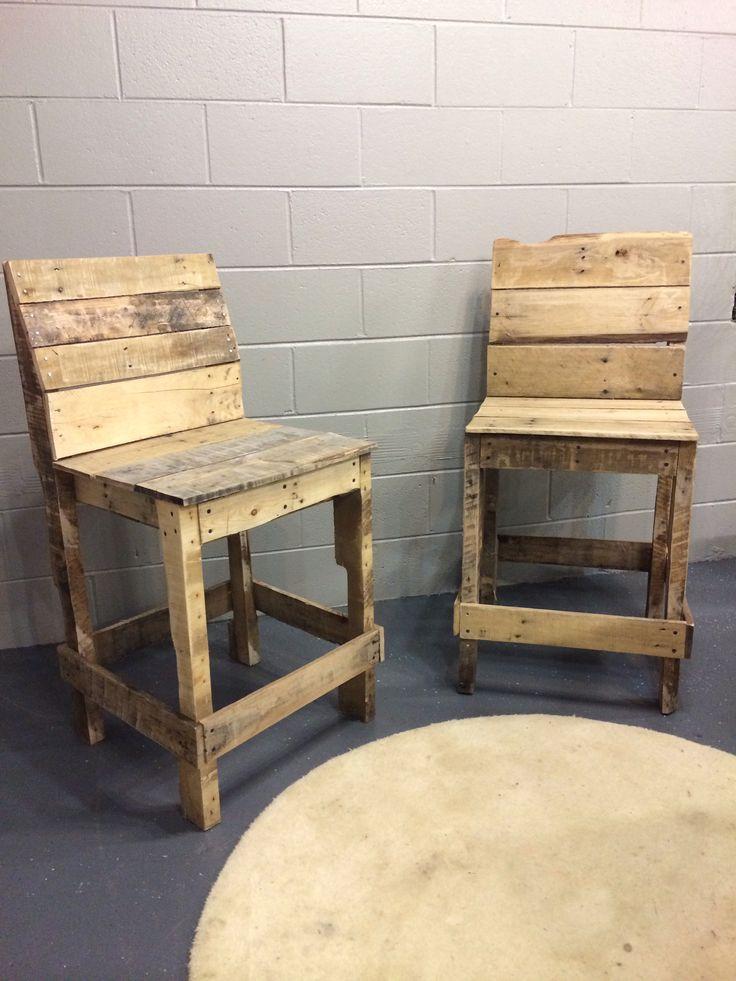 5 ideas de sillas de bar de palets i love palets for Sillas hechas de palets
