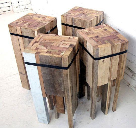 5 ideas de sillas de bar de palets i love palets - Fabriquer un tabouret de bar en bois ...