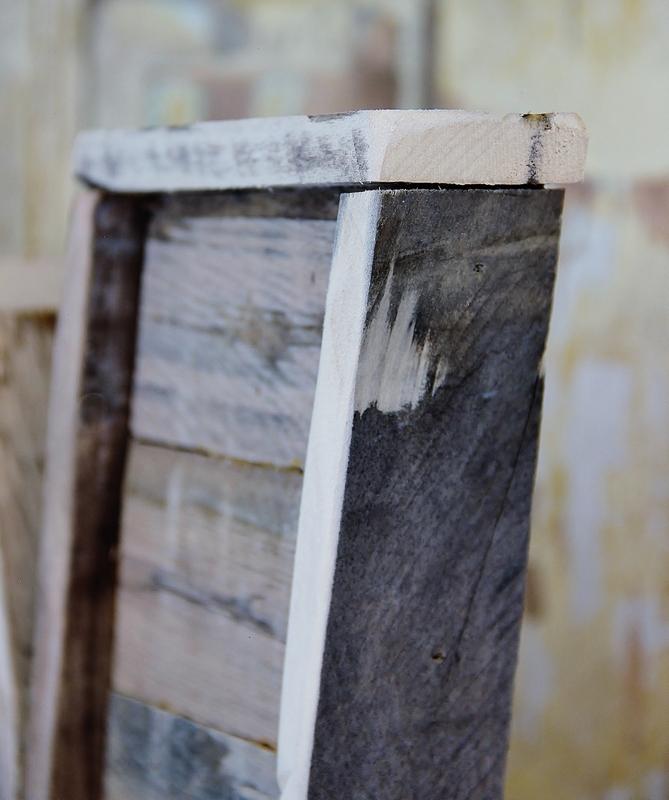 letra con madera de palet