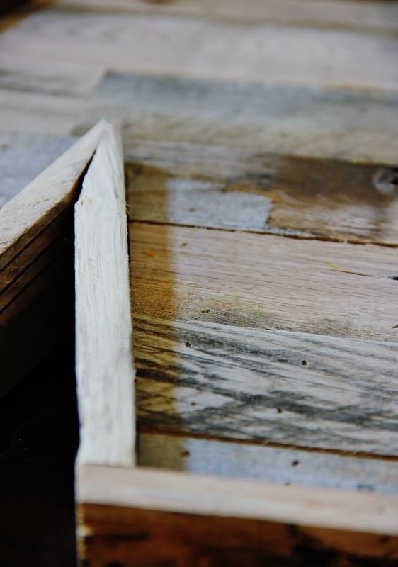 letra con madera de palets