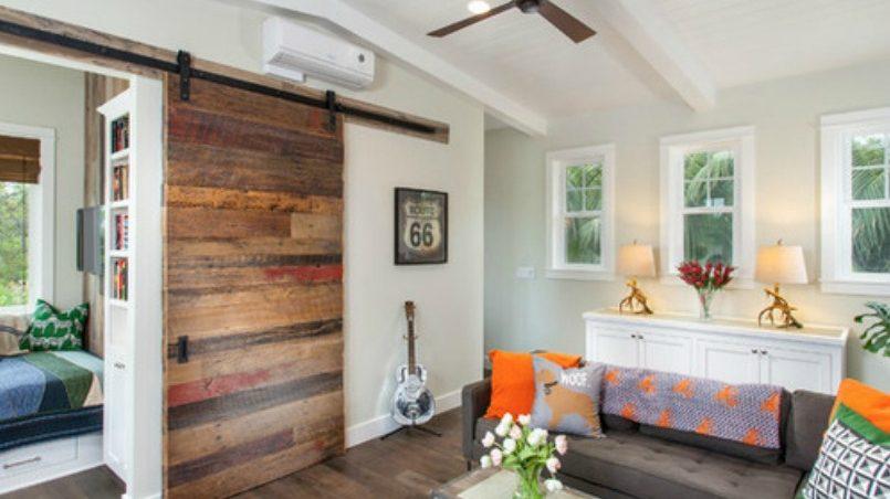 Puertas correderas hechas de palets de madera