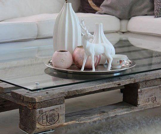 decorar una mesa de palets