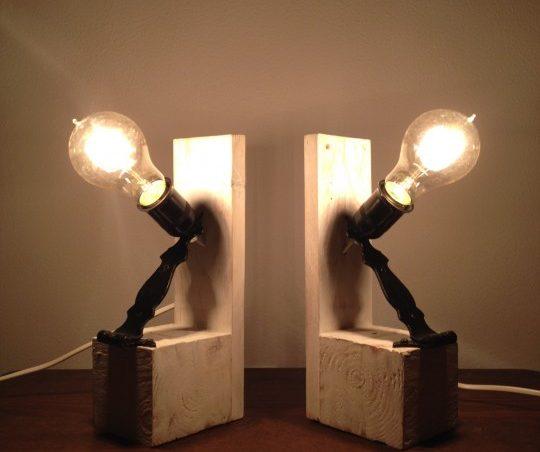 lámparas de noche de palet
